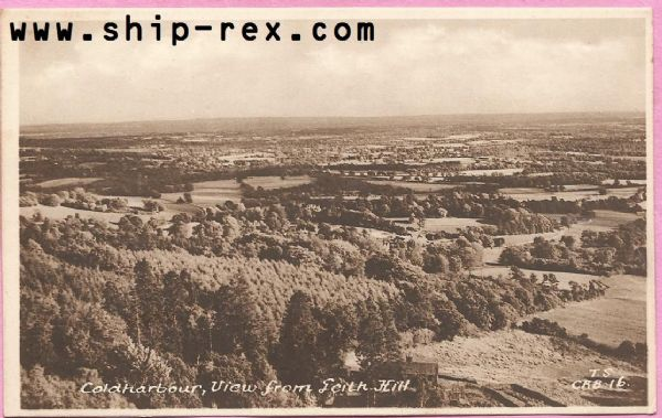 Coldharbour - view from Leith Hill - old postcard